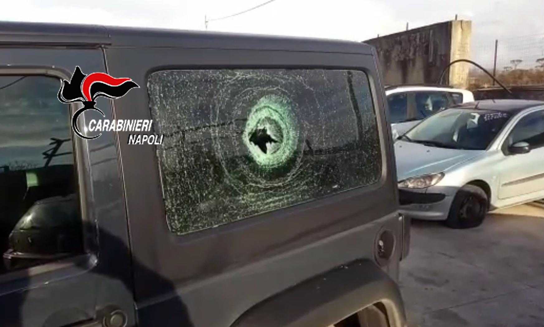 La Jeep della vittima
