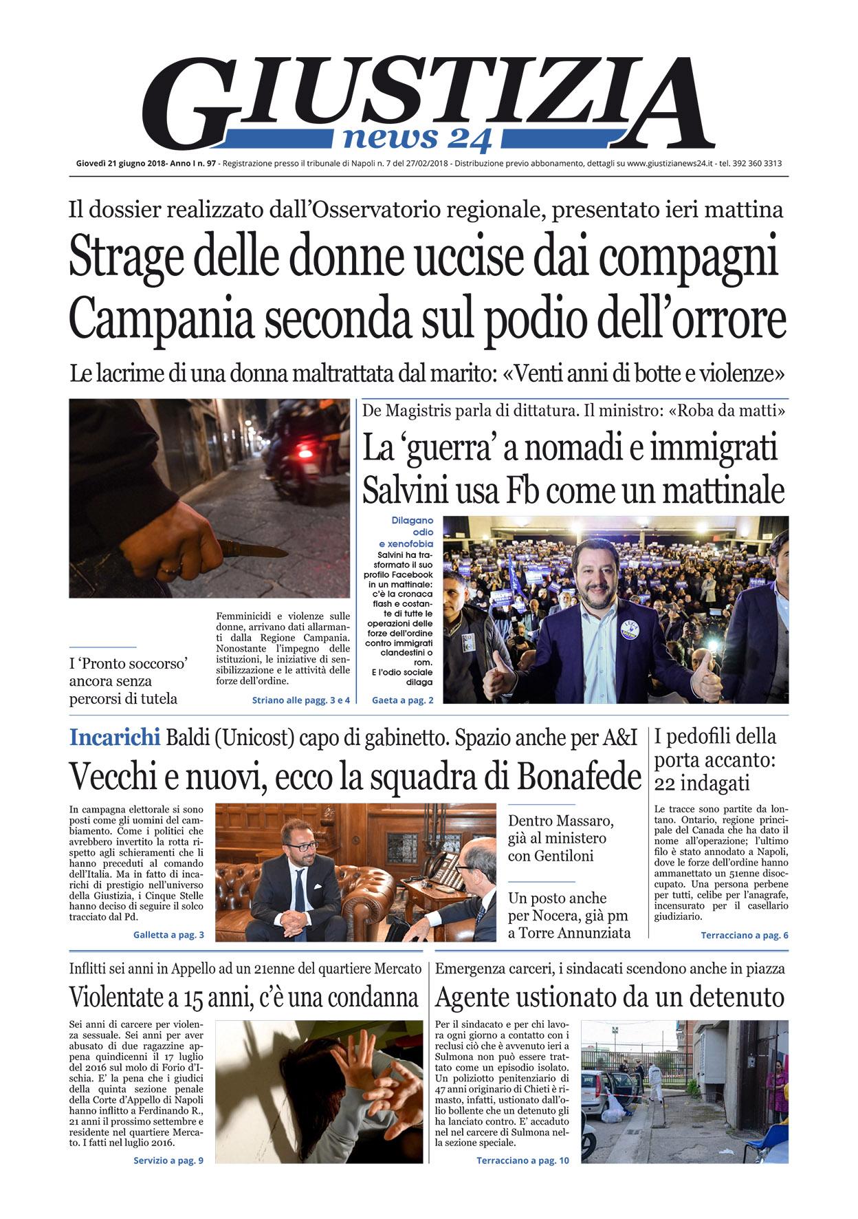 Le esclusive processi cronaca e politica in vetrina il giornale digitale di gioved 21 giugno - Diva e donne giornale ...