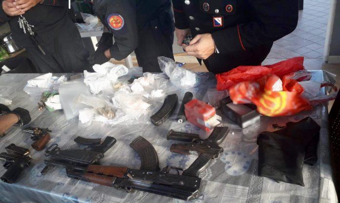 Armi e droga il sequestro