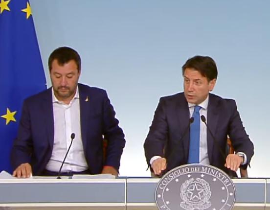Salvini Conte Giorgetti