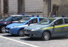 Auto carabinieri, polizia, guardia di finanza