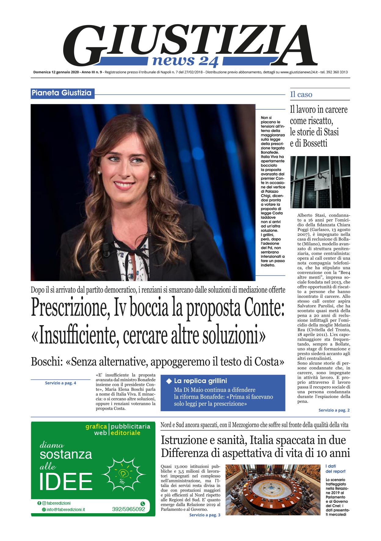 Prima pagina quotidiano digitale