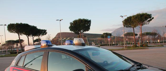 I carabinieri all'esterno del 'Vulcano Buono'