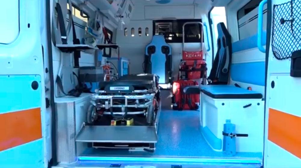 Ambulanza con telecamere