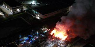 incendio acerra 14 febbraio 2020