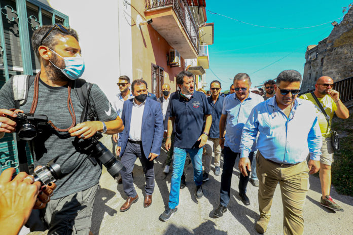 Salvini a Castelvolturno