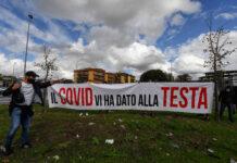 protesta Arzano lockdown (foto Kontrolab)