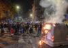 scontri a Napoli in via Santa Lucia (foto Kontrolab)