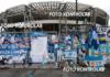 L'omaggio a Maradona all'esterno dello stadio San Paolo (foto Kontrolab)