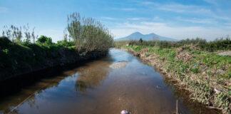 Una vista del fiume Sarno (foto Kontrolab)